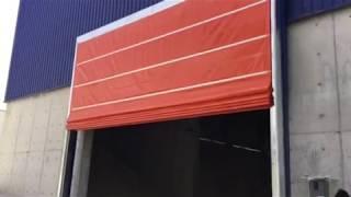 Mega Hızlı Pvc Çift Kat Katlanır Hangar Kapısı Eskişehir Ases Otomatik Kapı