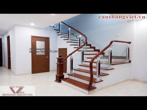 Cầu thang kính - Tổng hợp mẫu lan can cầu thang kính cường lực đẹp nhất mọi thời đại