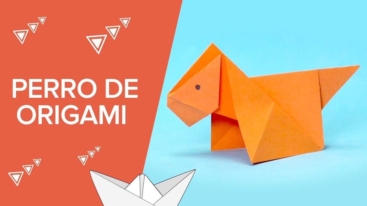Perro De Papel Origami Fácil Para Niños