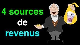 Comment avoir 4 sources de revenus facilement