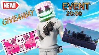 MARSHMELLO CONCERT in FORTNITE (20:00) | WIN STARTER PACK/GIVEAWAY/20:30