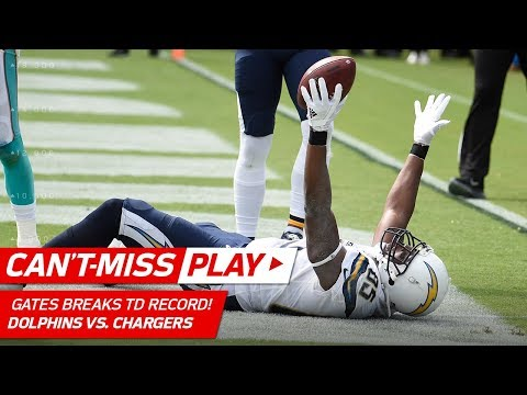 History is Made: Antonio Gates Breaks the Tight End TD Record!   Can