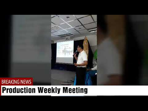 Production Manager Weekly meeting 19/4/2018