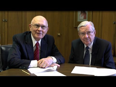 Young Single Adult Face to Face with Elder Oaks and Elder Ballard