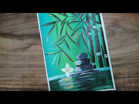 Step by Step Acrylic Painting on Canvas for Beginners / Nature Scenery Painting / Go Green Painting