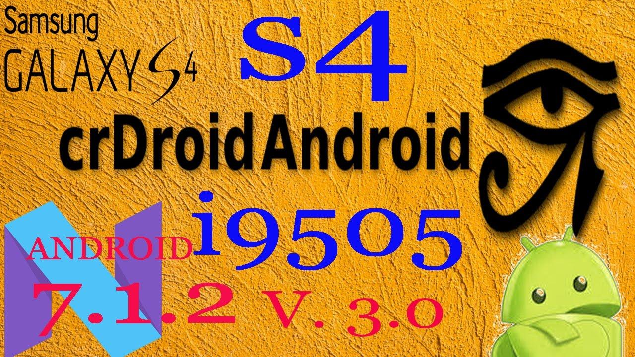 ROM jfltexx I9505 7 1 2 [LOS-based] **crDroid**v3 0
