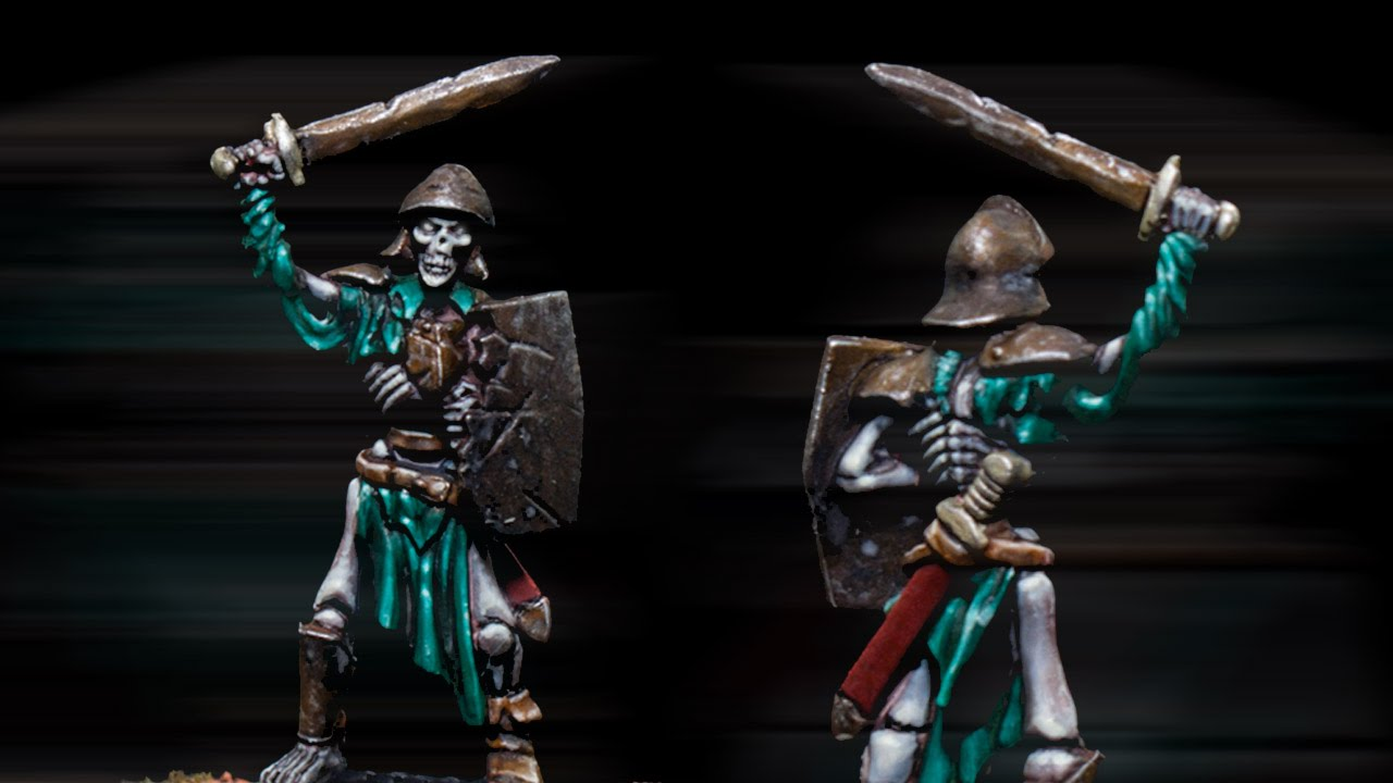 How to paint Kings of War Skeleton by Lester Bursley