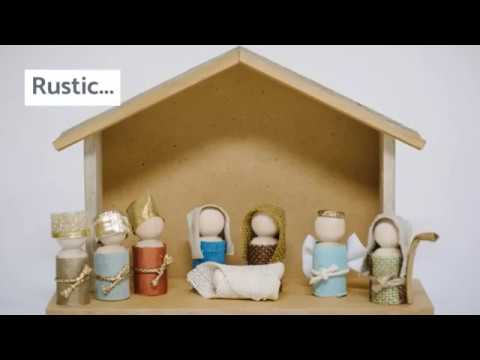 How to Make a Wooden Peg People Nativity Scene