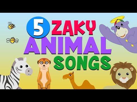5 Zaky Animal Songs For Kids - Muslim Cartoons
