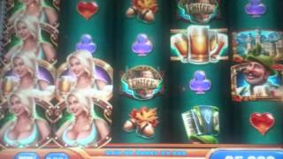 Bier haus slot machine bonuses & life luxury deluxe 4diamonds jackpot!!