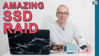 Best SSD RAID for Video Editing - Inateck FE2101 USB3.1 Gen 2 RAID Enclosure & SanDisk Ultra 3D SSD