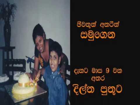 My Loving Son Dilna Tharisha Rememberance 18th Birthday.