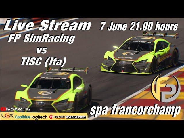 Livestream FP SimRacing Team match vs TISC  (ita)