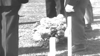 Eisenhower Visits Patton's Grave, Luxembourg, 09/28/1946 (full)