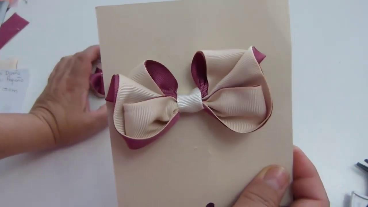 Como Hacer Moños Pequeños De Cinta Para Niñas Pequeñas 2 Tonos De Liston Small Ribbon Bows