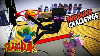 MONSTER SCHOOL : BEST SLAMDUNK CHALLENGE - BEST MINECRAFT ANIMATION