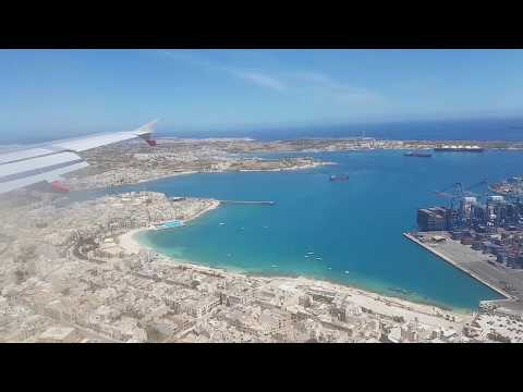 Landing at Malta International Airport
