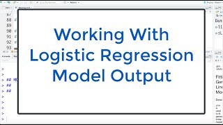6.4 Logistic Regression: Using Model To Answer Questions With R