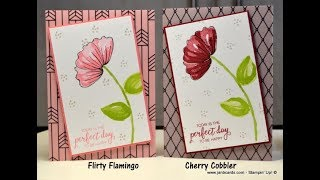 No.400 - Bunch of Blossoms & Graceful Glass Vellum - UK Stampin' Up! Independent Demonstrator