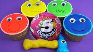 Impara i Colori in Italiano con i Gelati di Pongo Play Doh UOVA SORPRESA Super Pigiamini