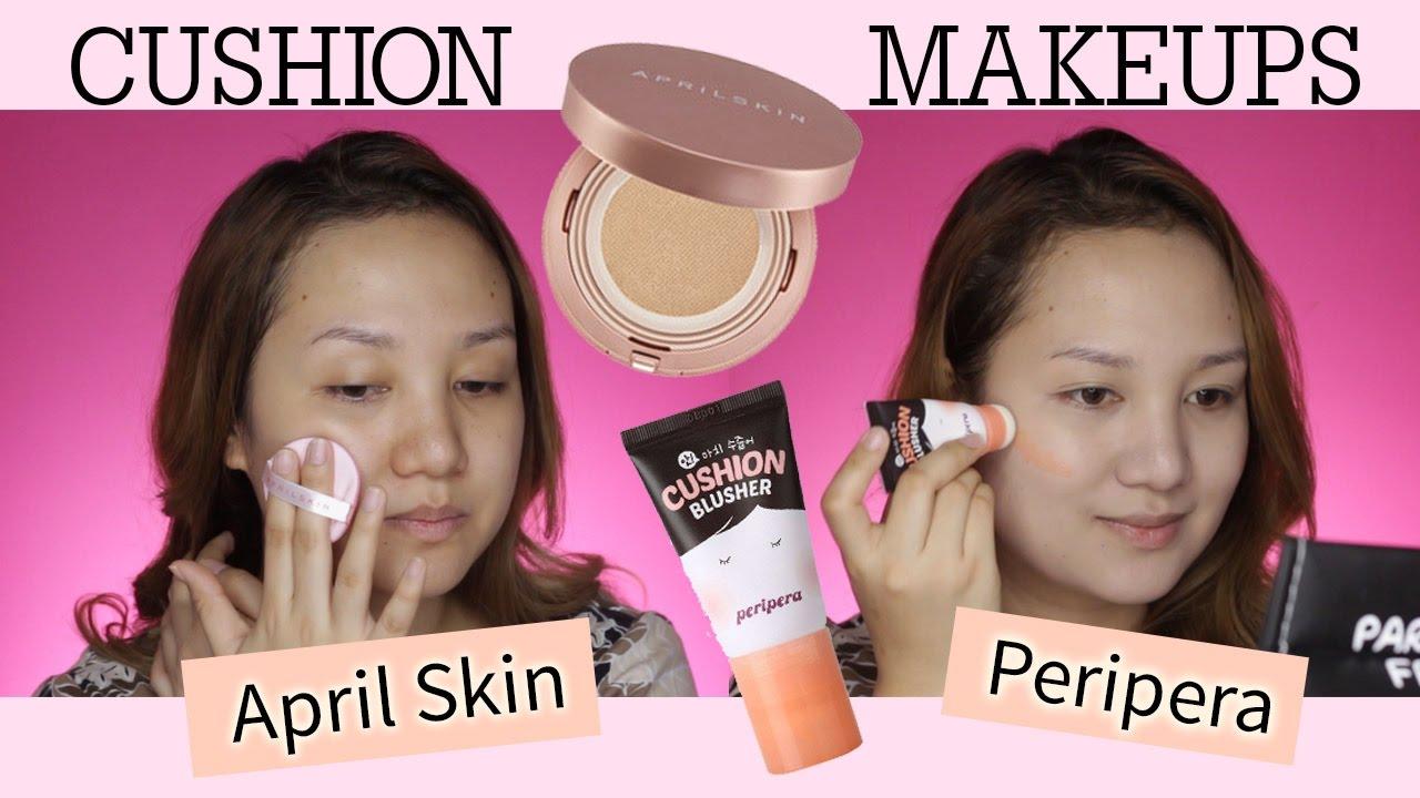 April Skin Magic Snow Fixing Foundation Peripera Cushion Blusher Review Demo Shen Asidor
