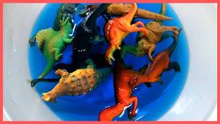 Learn DINOSAUR!! names English Korean TYRANNOSAURUS! TRICERATOPS 아이들 공룡 이름 배우기 티라노사우르스 트리케라톱스 영어 한국어