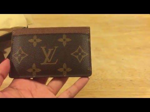 louis vuitton card holder review monogram youtube - Monogram Card Holder