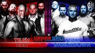 Survivor Series 2018 Elimination Match : TEAM Raw Vs Smackdown ! Survivor Series 2018 Highlights