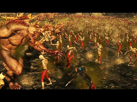 20 CRYPT HORRORS VS 10500 ZOMBIES - MASSIVE BATTLE TOTAL WAR WARHAMMER