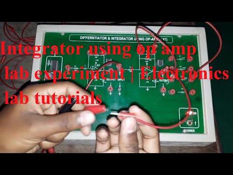 Integrator using op amp lab experiment   Electronics lab