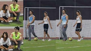 Disha Patani Playing Football With BF Tiger Shroff At Bandra Turf | Bollywood Screen | Tiger Shroff