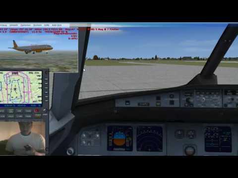 lets play FSX  (german) #5 flug 5 Hannover-Stockholm a 320-200