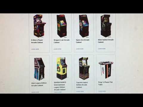 New Arcade1Up 2021 Line Up Killer Killer Instinct Dragon's Lair Arcade 1Up from rarecoolitems