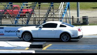 2012 mustang gt 1/4 mile with bama tune and without
