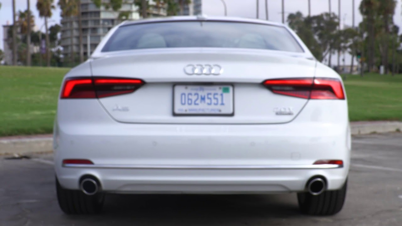 2018 audi a5 led headlights tail lights youtube. Black Bedroom Furniture Sets. Home Design Ideas
