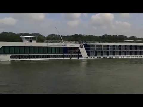 Passenger ship on Danube river in Hungary