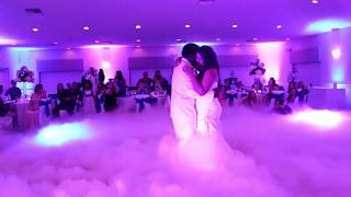 Access DJs - wedding first dance with low fog aka low-lying fog