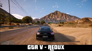GTA V - Redux (mod) - Gameplay and Benchmark