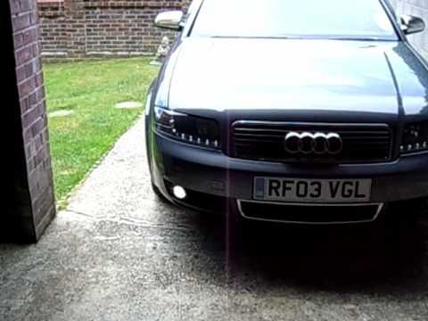 audi a4 b6 with dayline headlights led tail lights youtube. Black Bedroom Furniture Sets. Home Design Ideas