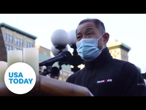 NYC vigil for spa victims slams anti-Asian hate   USA TODAY