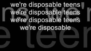 DISPOSABLE TEENS LYRICS