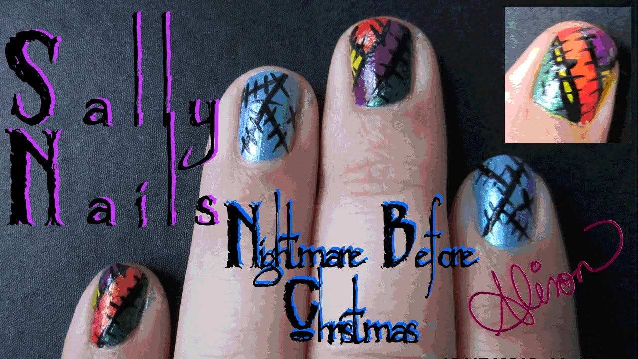 Sally Nails Nightmare Before Christmas - YouTube