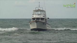 Fishing Boat Stuck on Sandbar