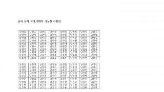 남씨작명,개명,소리오행(1)- 남씨 예쁜이름모음