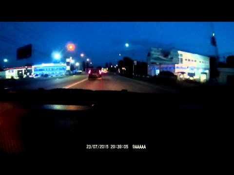 Видеорегистратор Telefunken TF-DVR 17HD ночной тест