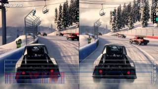 DiRT 3 360 vs PS3 Frame Rate Gameplay Comparison HD