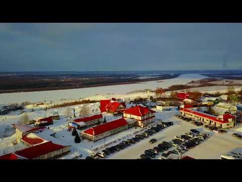 Полет из Дзержинска на горнолыжный комплекс Хабарское   На ту сторону Оки /4K/