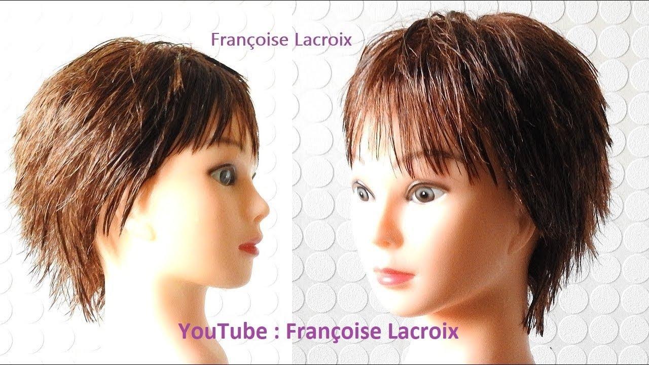 Coupe courte Femme   Short haircut for Women   Corte de pelo corto Dama   Coupe dégradée Femme ...