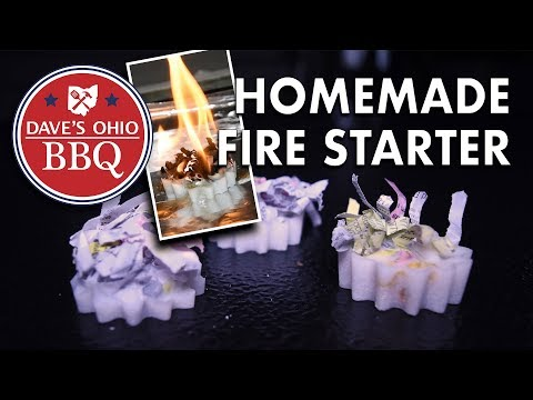 Homemade Fire Starters - Shredded Paper and Wax