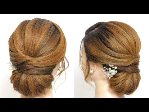 New Bun Hairstyle For Wedding Or Party. Girls Hairstyles thumbnail
